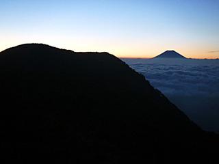 光小屋からの富士山